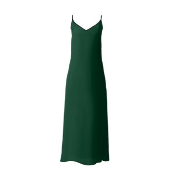 SOPHIA SLIP DRESS // Forest Green
