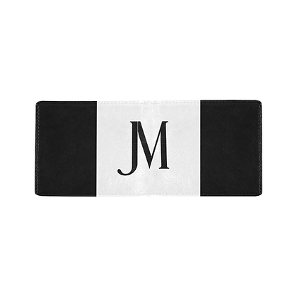 MEN'S JM LOGO BIFOLD WALLET // Black & White