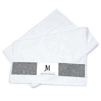 JM DESIGNER CHRISTMAS STRIP TOWEL SET // Multicolored, with JM Logo