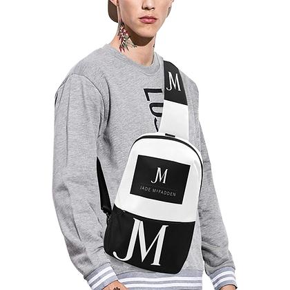 MEN'S JM COMPANY LOGO CHEST BAG // Black & White