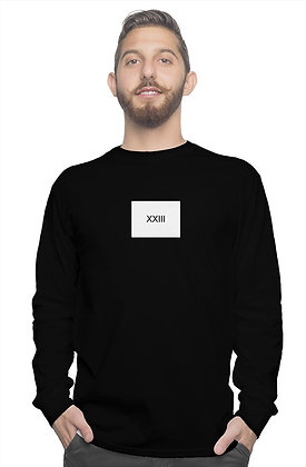 XXIII LONG SLEEVE SHIRT // Black & White