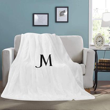 JM MICRO FLEECE LUXURY BLANKET // White & Black