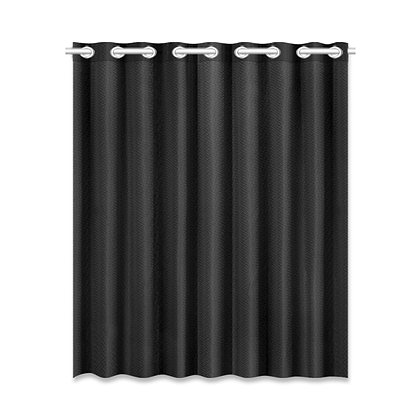 SOLID COLOR WINDOW CURTAIN (One-Piece) // Black