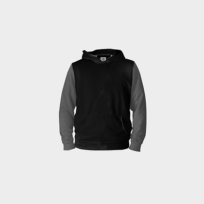 EXCLUSIVE MEN'S JM LOGO PULL-OVER HOODIE // Black & Grey with JM Logo