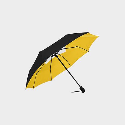 JM LOGO ANTI-UV AUTOMATIC UMBRELLA // Black, Yellow, & White