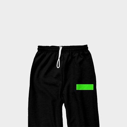 CLASSIC SWEATPANTS // Black & Neon Green
