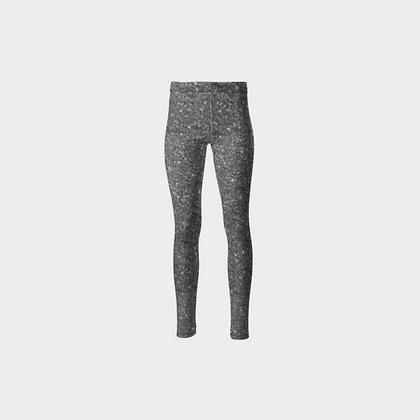SPARKLE PRINT PONTE JERSEY HIGH-WAIST LEGGINGS // Silver Sparkle