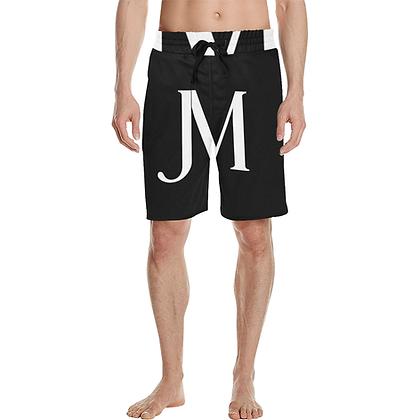 MEN'S CASUAL JM MULTIPURPOSE BEACH SHORTS // Black & White