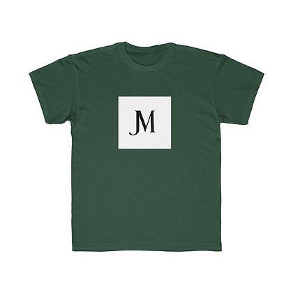 KIDS SHORT SLEEVE JM LOGO REGULAR FIT TEE // Forest Green, White, & Black
