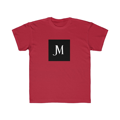 KIDS SHORT SLEEVE JM LOGO REGULAR FIT TEE // Red, Black, & White