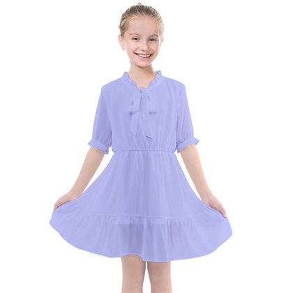 GIRLS FRILLS CHIFFON DRESS // Lavender
