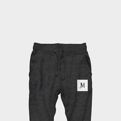 EXCLUSIVE JM JOGGER PANTS // Dark Heather Grey, White, & Black