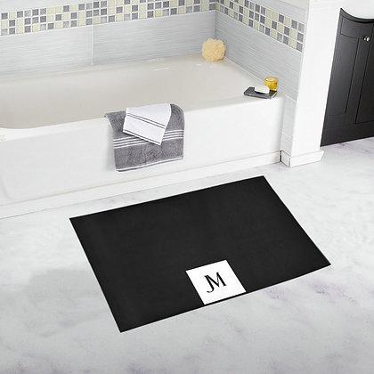 JM LOGO BATH RUG // Black & White