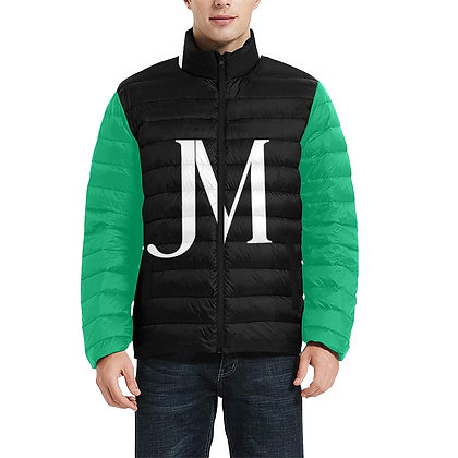 MEN'S JM LOGO LIGHTWEIGHT QUILTED PUFFER JACKET // Multicolored