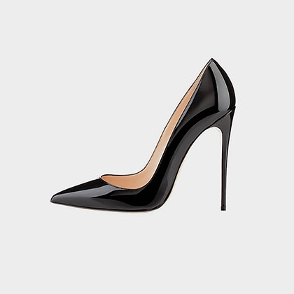 JADE McFADDEN PATENT LEATHER CLASSIC PUMPS // Black