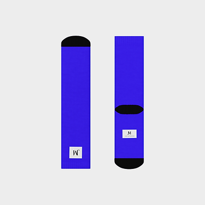 JM COMPANY LOGO CREW SOCKS // Royal Blue, White, & Black