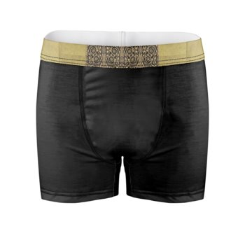 DAMASK PRINT BOXER BRIEFS // Black & Gold