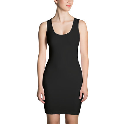 WOMEN'S SLEEVELESS SLIM-FIT LBD (LITTLE BLACK DRESS) // Black