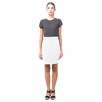 WOMEN'S PENCIL SKIRT // White