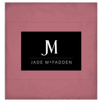 JM COMPANY LOGO 3-PIECE DUVET BEDDING SET #3 // Rose Gold, Black, & White