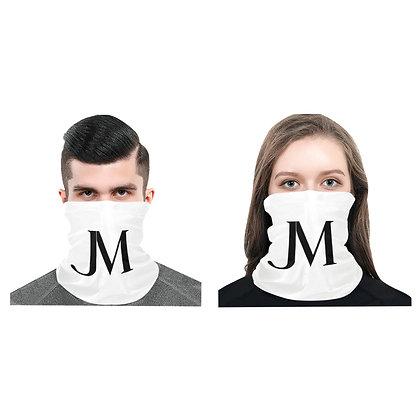 JM LOGO UNISEX MULTIFUNCTIONAL DUST-PROOF BANDANA // White & Black