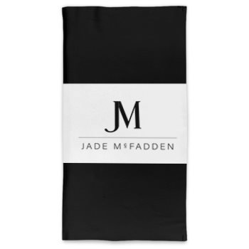 JM COMPANY LOGO NECK TUBE SCARF // Black & White