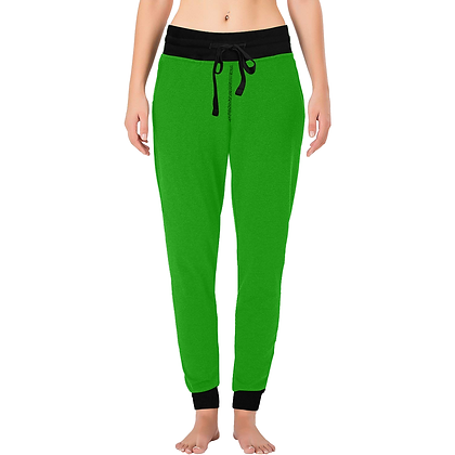 WOMEN'S LOUNGE JOGGER PANTS // Green & Black