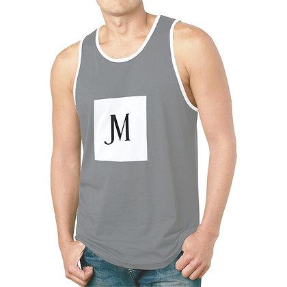 MEN'S JM LOGO HYBRID TANK TOP // Grey, White, & Black