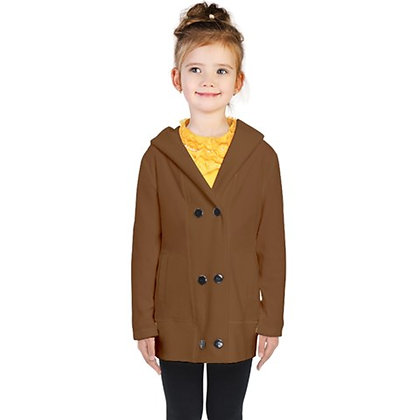 KIDS DOUBLE-BREASTED BUTTON COAT // Gingerbread