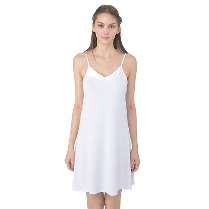WOMEN'S SATIN CAMI SLIP DRESS NIGHTGOWN // White