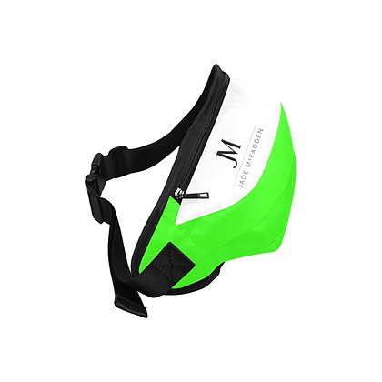 JM COMPANY LOGO WAIST BAG // Neon Green, White, & Black