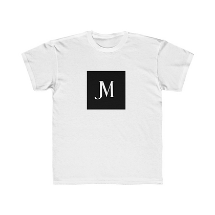 KIDS SHORT SLEEVE JM LOGO REGULAR FIT TEE // White & Black