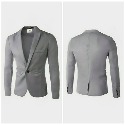 MEN'S SLIM-FIT BUSINESS CASUAL BLAZER // Grey