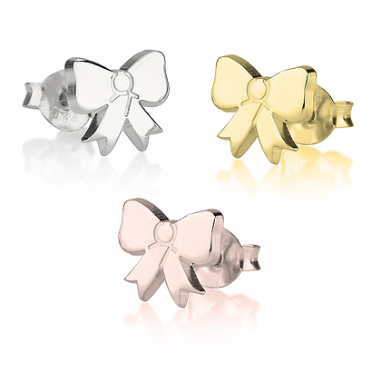 KIDS BOW-SHAPED EARRINGS // Multiple Colors