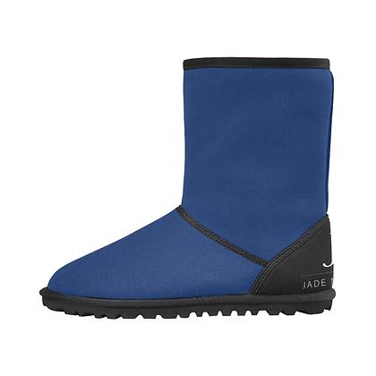 KIDS JM COMPANY SNOW BOOTS // Royal Blue, Black, & White