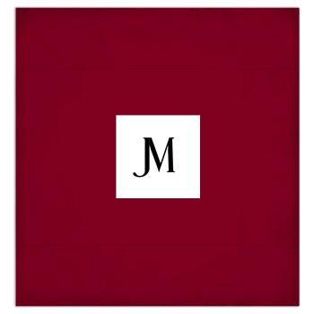 JM COMPANY LOGO 3-PIECE DUVET BEDDING SET #5 // Burgundy, White, & Black