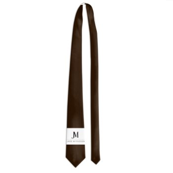 MEN'S JM COMPANY CLASSIC TIE // Chocolate Brown, White, & Black