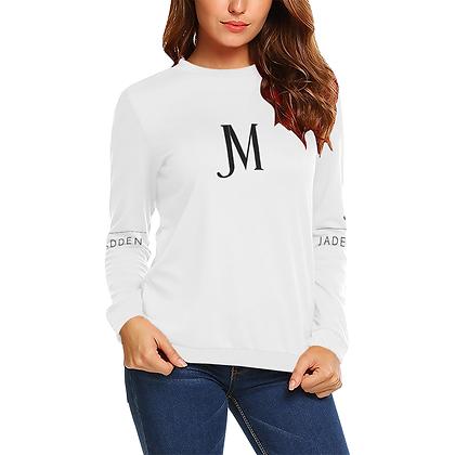 WOMEN'S JM COMPANY CREWNECK SWEATSHIRT // White & Black