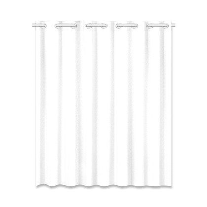 SOLID COLOR WINDOW CURTAIN // White