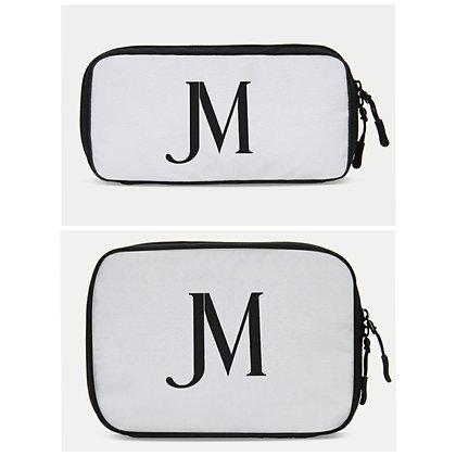 JM LOGO TRAVEL ORGANIZER BAGS (Small & Large) // White & Black