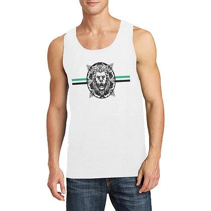 MEN'S ROYAL COAT OF ARMS TANK TOP // White, Black, & Jade Green