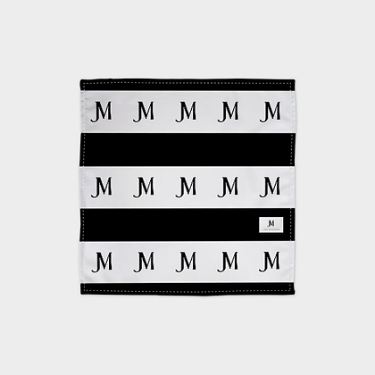 JM (JADE McFADDEN) BANDANA // Black & White Stripes