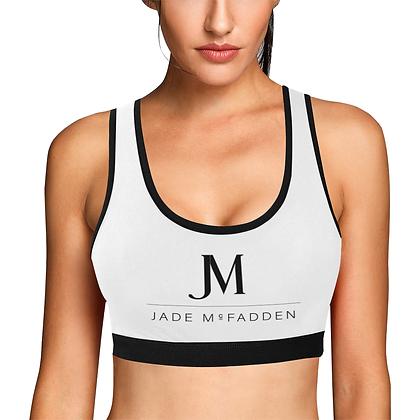 WOMEN'S JM COMPANY HYBRID SPORTS BRA // White, Black, & Purple