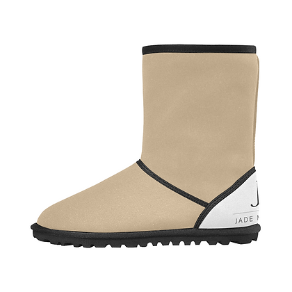 KIDS JM COMPANY SNOW BOOTS // Tan, White, & Black