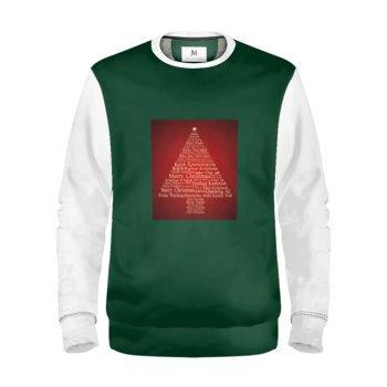 MEN'S INTERNATIONAL CHRISTMAS TREE SWEATSHIRT // Red, Green, White, & Tan