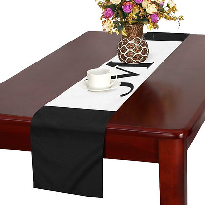 JM COMPANY LOGO TABLE RUNNER // Black & White