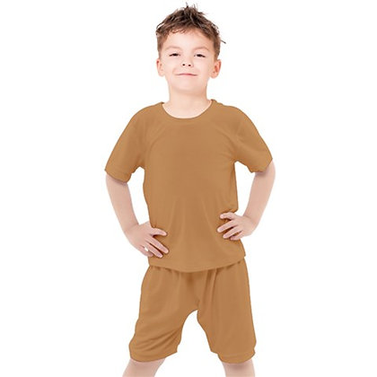 BOYS CASUAL TEE AND SHORTS SET // Clay Brown