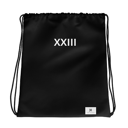 XXIII DRAWSTRING BAG // Black & White
