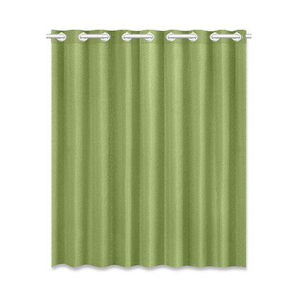 SOLID COLOR WINDOW CURTAIN // Olive Green