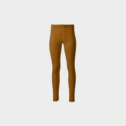 TWO-TONE PONTE JERSEY HIGH-WAIST LEGGINGS // Caramel & Black